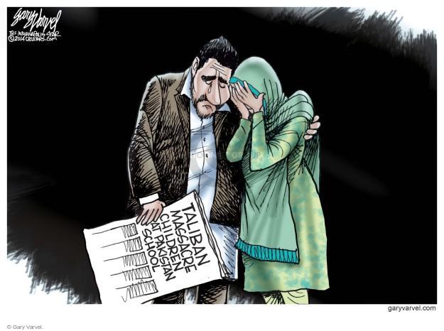 Cartoonist Gary Varvel  Gary Varvel's Editorial Cartoons 2014-12-17 school shooting