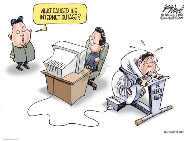 Cartoonist Gary Varvel  Gary Varvel's Editorial Cartoons 2014-12-28 Korea