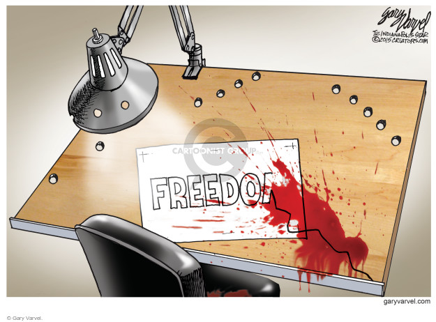 Gary Varvel  Gary Varvel's Editorial Cartoons 2015-01-07 freedom of the press