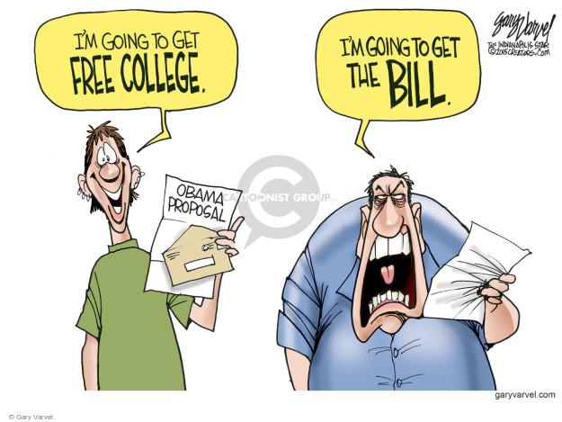 Cartoonist Gary Varvel  Gary Varvel's Editorial Cartoons 2015-01-11 college education
