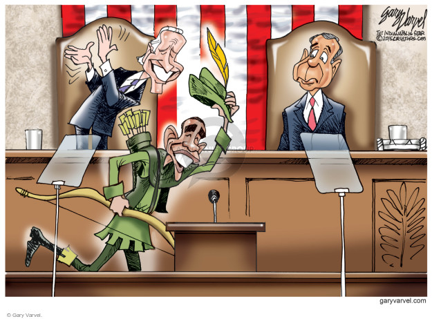 Gary Varvel  Gary Varvel's Editorial Cartoons 2015-01-20 Obama Biden