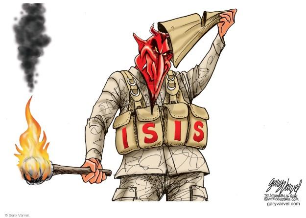 Cartoonist Gary Varvel  Gary Varvel's Editorial Cartoons 2015-02-05 attack