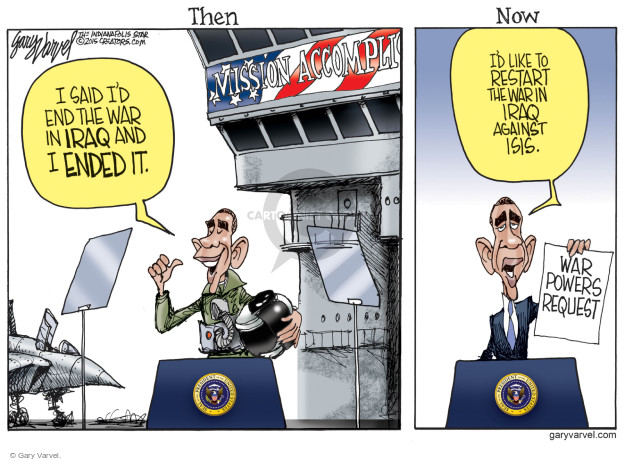 Cartoonist Gary Varvel  Gary Varvel's Editorial Cartoons 2015-02-12 Congress and Iraq