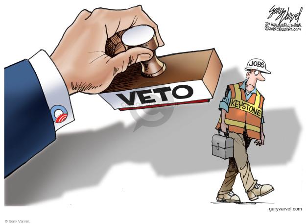 Cartoonist Gary Varvel  Gary Varvel's Editorial Cartoons 2015-02-15 construction