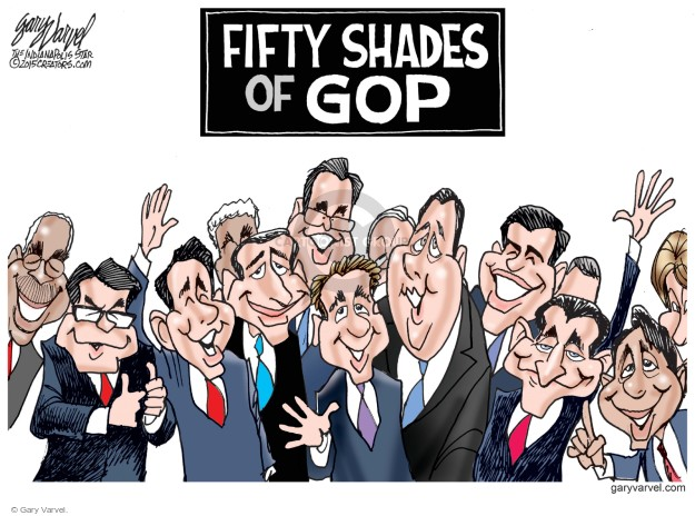Gary Varvel  Gary Varvel's Editorial Cartoons 2015-02-18 50 Shades of Grey