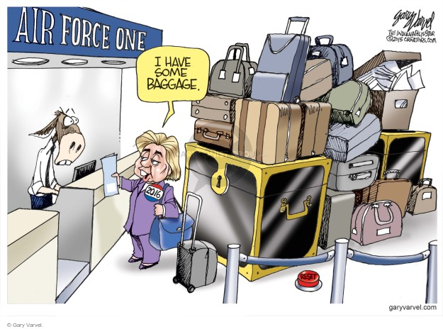 Air Force One. I have some baggage. 2016.