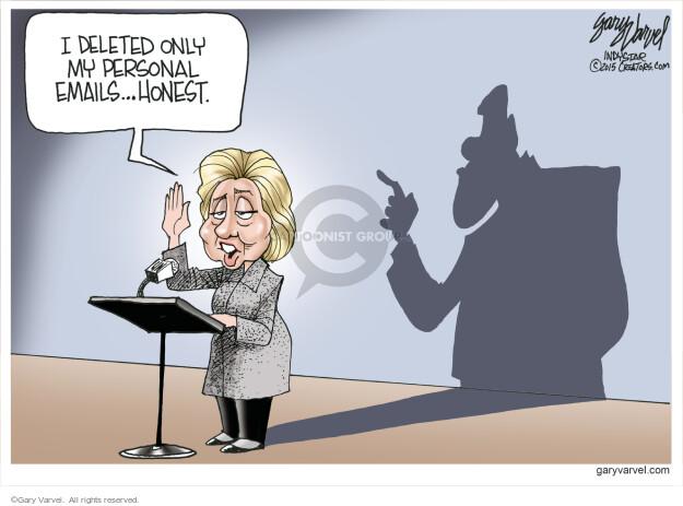 Cartoonist Gary Varvel  Gary Varvel's Editorial Cartoons 2015-03-12 Bill Clinton