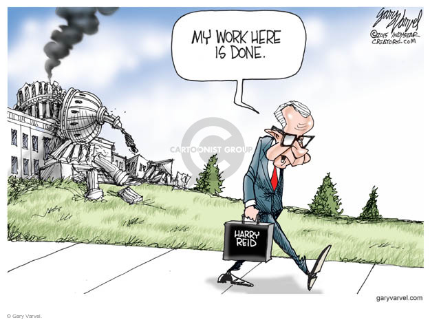 Cartoonist Gary Varvel  Gary Varvel's Editorial Cartoons 2015-03-30 Capitol Hill