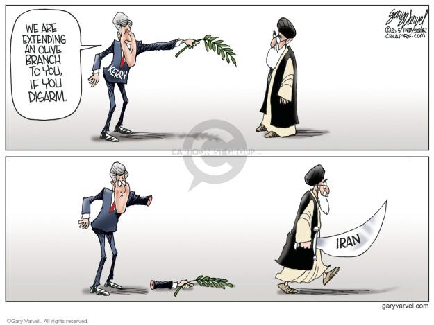 Cartoonist Gary Varvel  Gary Varvel's Editorial Cartoons 2015-04-12 Iran nuclear agreement
