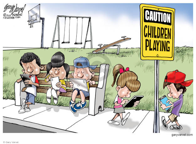 Cartoonist Gary Varvel  Gary Varvel's Editorial Cartoons 2015-04-13 technology