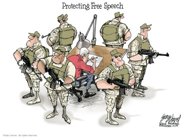 Cartoonist Gary Varvel  Gary Varvel's Editorial Cartoons 2015-05-05 attack