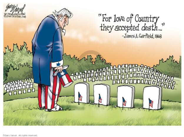 Cartoonist Gary Varvel  Gary Varvel's Editorial Cartoons 2015-05-25 Veterans Day