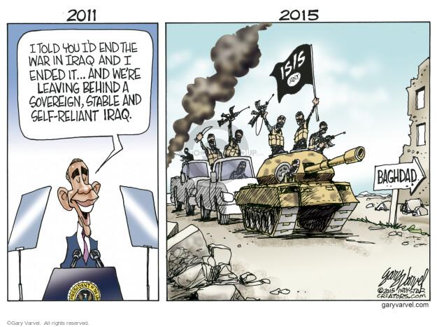 Cartoonist Gary Varvel  Gary Varvel's Editorial Cartoons 2015-05-26 Iraq war