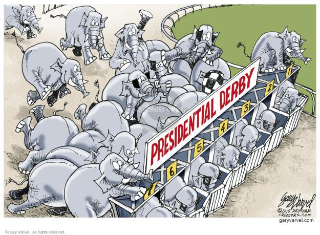 Gary Varvel  Gary Varvel's Editorial Cartoons 2015-05-29 race number