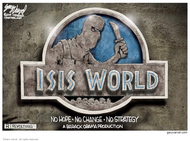Cartoonist Gary Varvel  Gary Varvel's Editorial Cartoons 2015-06-12 Obama terrorism