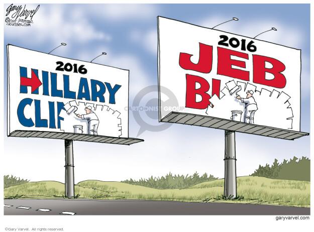 Cartoonist Gary Varvel  Gary Varvel's Editorial Cartoons 2015-06-16 George Bush painting