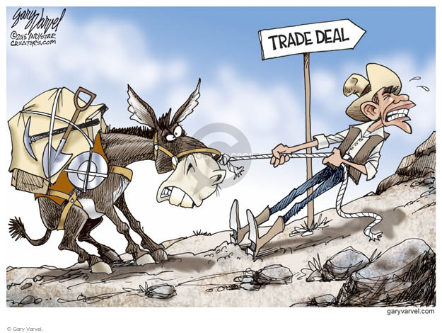 Gary Varvel  Gary Varvel's Editorial Cartoons 2015-06-18 trade