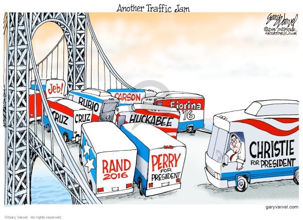 Jeb! Cruz. Rubio. Carson. Huckabee. Fiorina 16. Rand 2016. Perry for President. Christie for President.