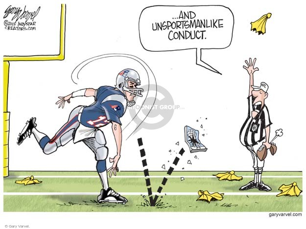 ... and unsportsmanlike conduct.