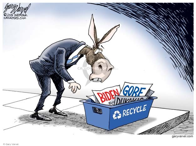 Cartoonist Gary Varvel  Gary Varvel's Editorial Cartoons 2015-08-17 2016 Election Joe Biden