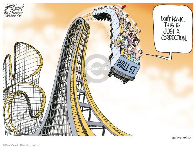 Gary Varvel  Gary Varvel's Editorial Cartoons 2015-08-26 stock market