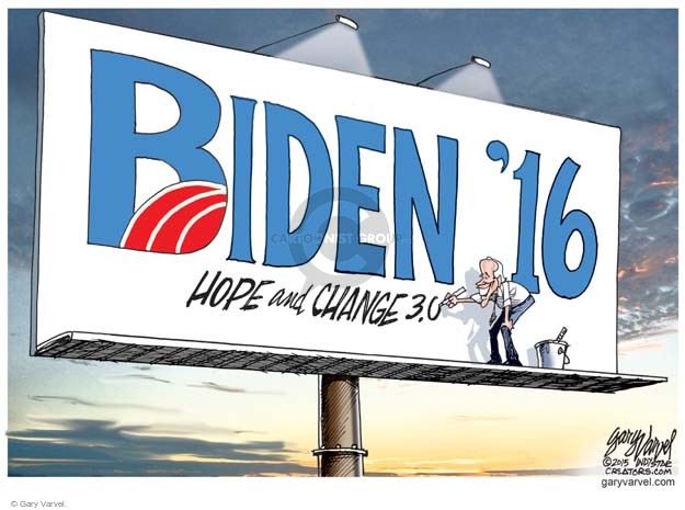 Cartoonist Gary Varvel  Gary Varvel's Editorial Cartoons 2015-08-27 2016 Election Joe Biden
