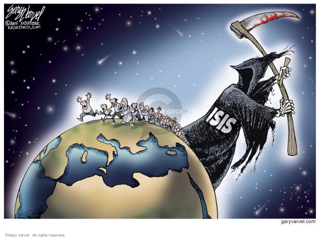 Cartoonist Gary Varvel  Gary Varvel's Editorial Cartoons 2015-09-11 refugee
