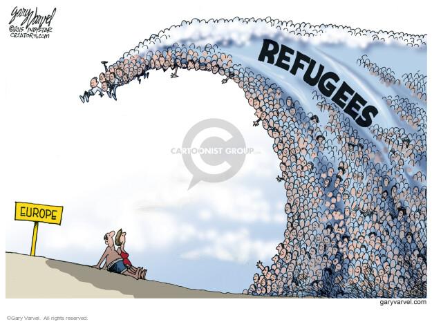 Cartoonist Gary Varvel  Gary Varvel's Editorial Cartoons 2015-09-17 refugee