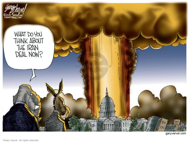 Cartoonist Gary Varvel  Gary Varvel's Editorial Cartoons 2015-09-20 nuclear