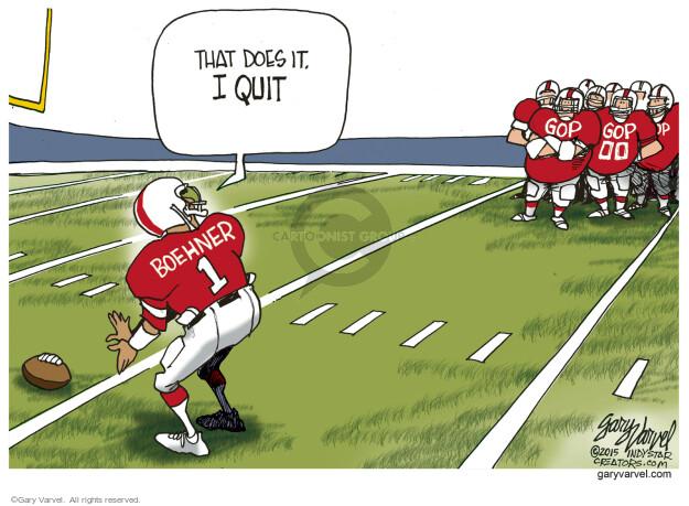 Cartoonist Gary Varvel  Gary Varvel's Editorial Cartoons 2015-10-28 John Boehner