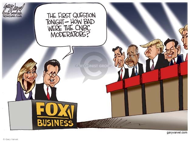 The first question tonight - How bad were the CNBC moderators? Fox Business.