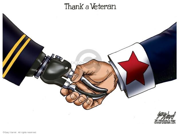 Cartoonist Gary Varvel  Gary Varvel's Editorial Cartoons 2015-11-11 military wounded