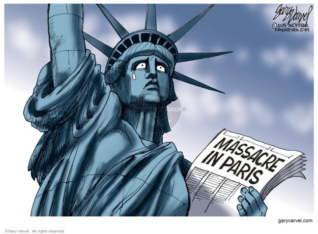 Cartoonist Gary Varvel  Gary Varvel's Editorial Cartoons 2015-11-14 attack