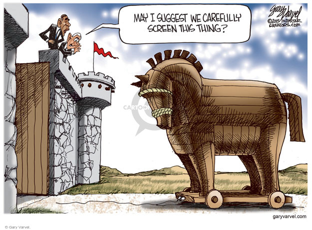 Cartoonist Gary Varvel  Gary Varvel's Editorial Cartoons 2015-11-18 Trojan