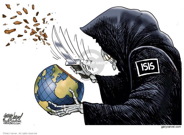 Gary Varvel  Gary Varvel's Editorial Cartoons 2015-11-23 fear