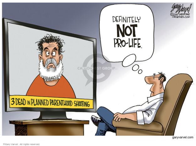 Cartoonist Gary Varvel  Gary Varvel's Editorial Cartoons 2015-12-02 gun death