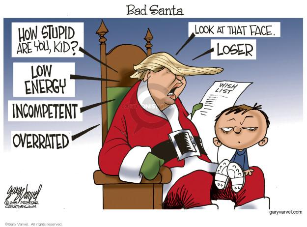 Gary Varvel  Gary Varvel's Editorial Cartoons 2015-12-13 criticism