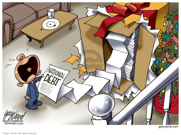 Gary Varvel  Gary Varvel's Editorial Cartoons 2015-12-14 national debt