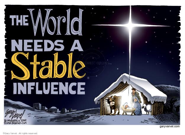 Gary Varvel  Gary Varvel's Editorial Cartoons 2015-12-25 world