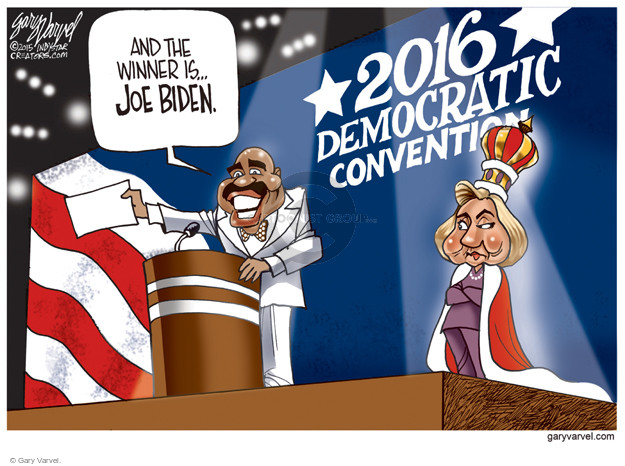 Cartoonist Gary Varvel  Gary Varvel's Editorial Cartoons 2015-12-23 2016 Election Joe Biden