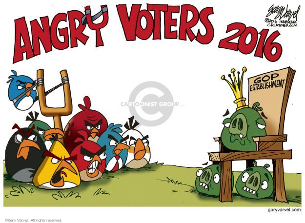 Gary Varvel  Gary Varvel's Editorial Cartoons 2016-01-17 fear