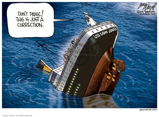 Gary Varvel  Gary Varvel's Editorial Cartoons 2016-01-19 stock market