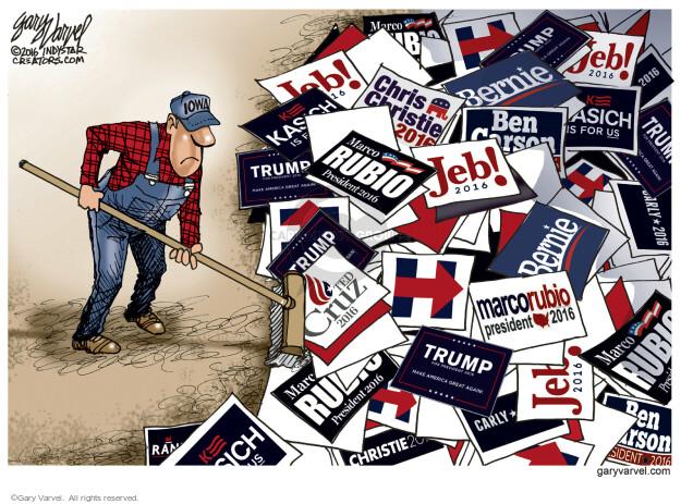 Cartoonist Gary Varvel  Gary Varvel's Editorial Cartoons 2016-02-01 John Kasich