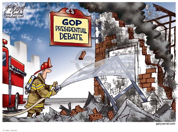 Gary Varvel  Gary Varvel's Editorial Cartoons 2016-02-18 election debate