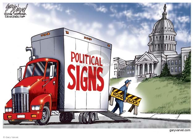 Cartoonist Gary Varvel  Gary Varvel's Editorial Cartoons 2016-02-21 Capitol Hill