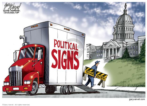 Cartoonist Gary Varvel  Gary Varvel's Editorial Cartoons 2016-02-21 Supreme Court