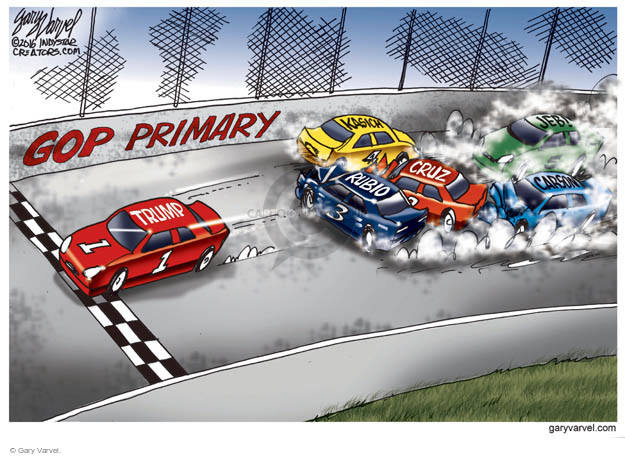 Gary Varvel  Gary Varvel's Editorial Cartoons 2016-02-23 crash