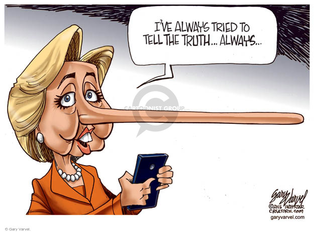 Cartoonist Gary Varvel  Gary Varvel's Editorial Cartoons 2016-02-28 deception