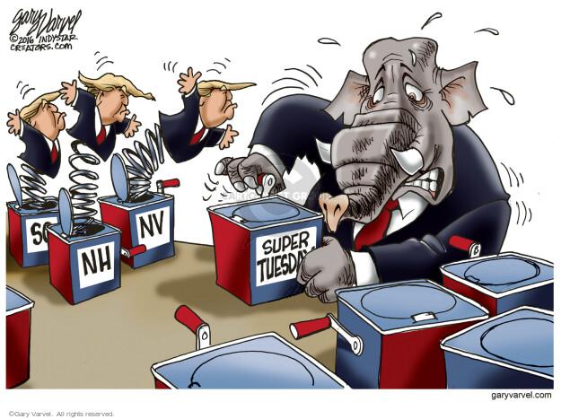 Cartoonist Gary Varvel  Gary Varvel's Editorial Cartoons 2016-03-01 establishment