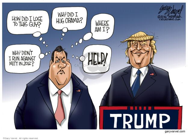 Gary Varvel  Gary Varvel's Editorial Cartoons 2016-03-06 2016 Election Chris Christie